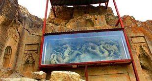 اژدهای بودایی در دل کوههای ایران