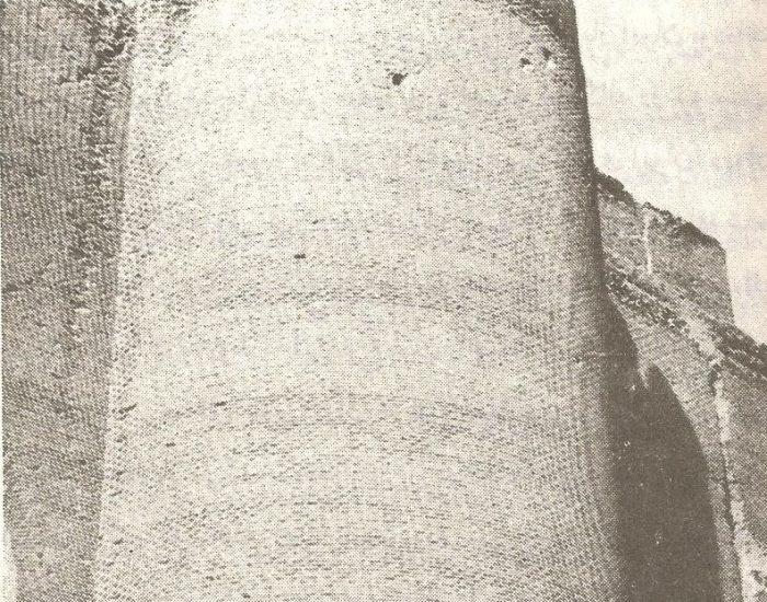 بر آمدگی یاپشتوانه نیم دایره مسجد علیشاه./ عکس : ترابی/ کتاب : آثار باستانی آذربایجان
