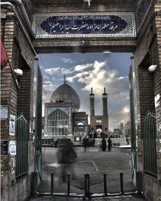 درب ورودی جنوبی امامزاده سید ابراهیم زنجان