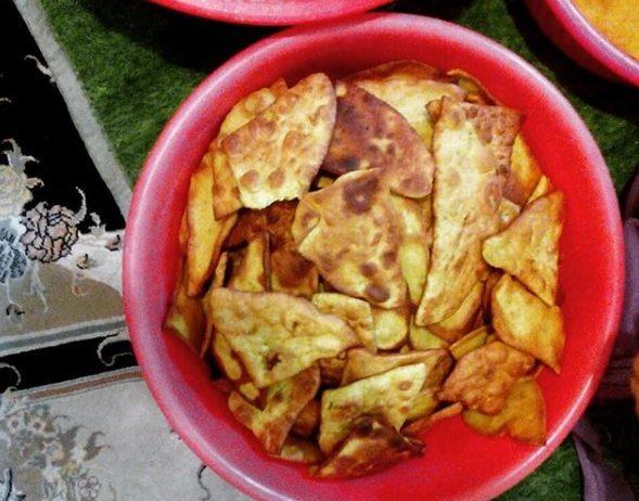 چاغلداغ نوعی نان محلی روستای درسجین