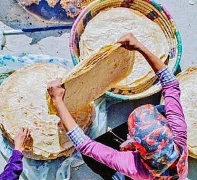 نان محلی روستای درسجین