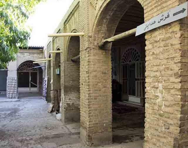 حیاط سرای بهجت بازار زنجان