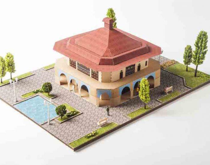 ماکت کاخ چهلستون قزوین (عمارت کلاه فرنگی)