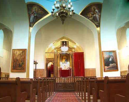 هال و محل عبادت کلیسای کانتور قزوین1