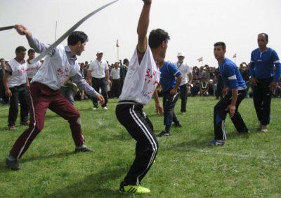 بازی محلی قیش بازی در استان زنجان