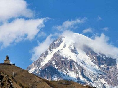 کوه کازبک در کشور گرجستان