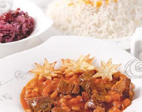 نخود آله غذای محلی کاشان