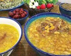 گوشت لوبیا غذای محلی کاشان