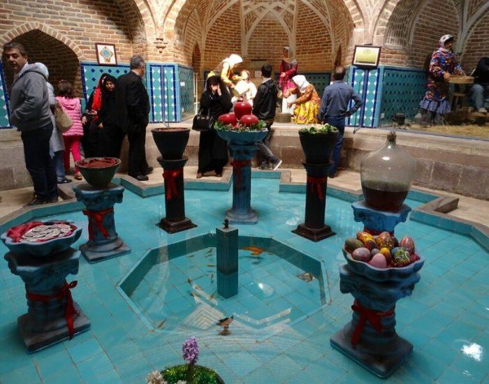 این حمام از جاذبه های گردشگری شهر قزوین است