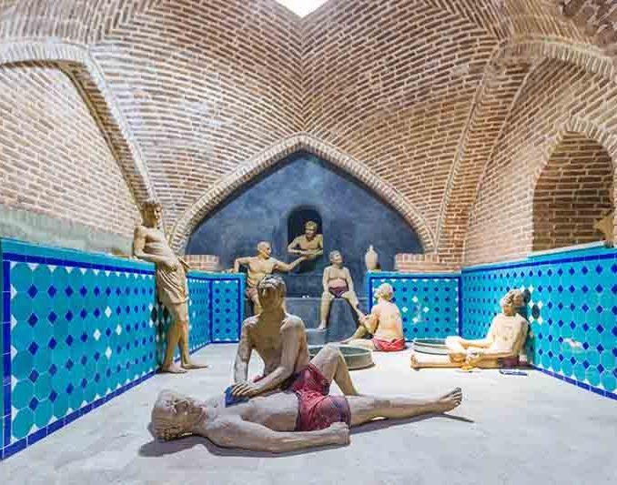 موزه مردم شناسی شهر قزوین واقع در حمام قجر