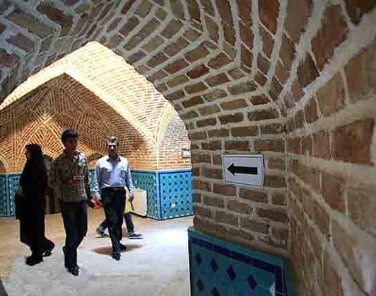 حمام. قجر از بناهای تاریخی قزوین