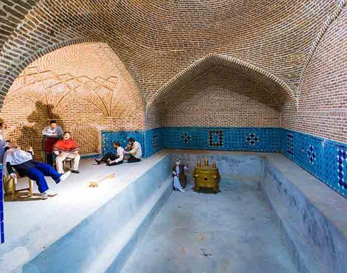 موزه مردم شناسی حمام قجر شهر قزوین