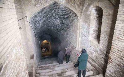آب انبار مسجد جامع از آب انبارهای دیدنی شهر قزوین