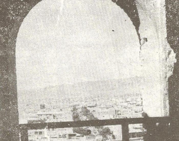 طاق یکی پنجره های غلام گردش بالای مسجد علیشاه./ عکس : ترابی/ کتاب : آثار باستانی آذربایجان