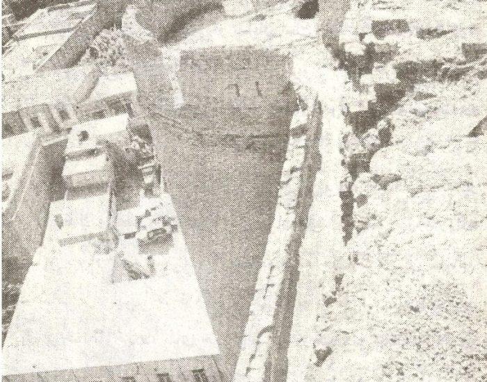 غلام گردش یا راهرو قسمت بالای مسجد علیشاه./ عکس : ترابی/ کتاب : آثار باستانی آذربایجان