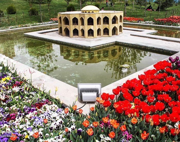 لاله کاری محوطه پارک مینیاتور تبریز