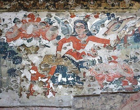 نقاشی کاخ چهلستون قزوین (عمارت کلاه فرنگی)