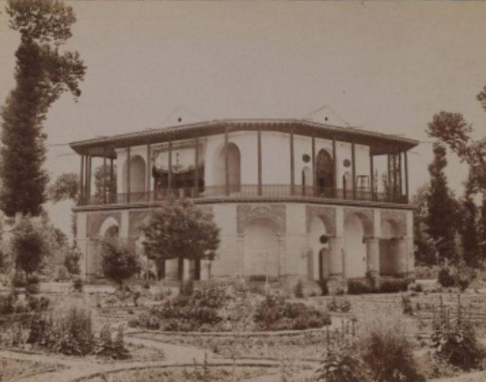تصاویر قدیمی کاخ چهلستون قزوین (عمارت کلاه فرنگی)
