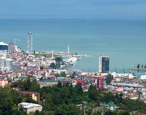 نمایی از شهر ساحلی باتومی گرجستان